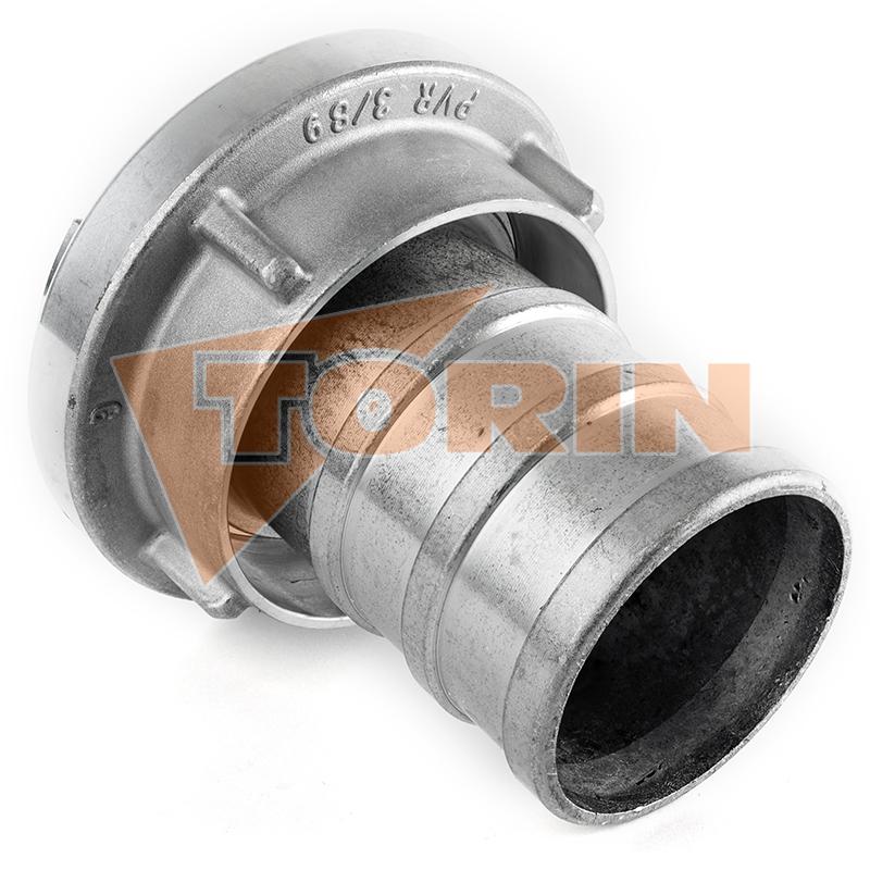 Приварной патрубок с наружной резьбой 2 1/2 алюминий