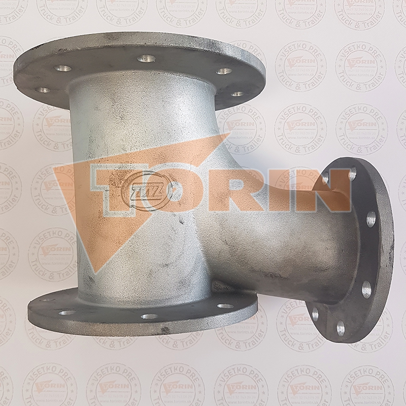 Delivery hose for abrasive materials DN 100 black