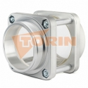 Compresor manguera de aire caliente DN 75 blanco