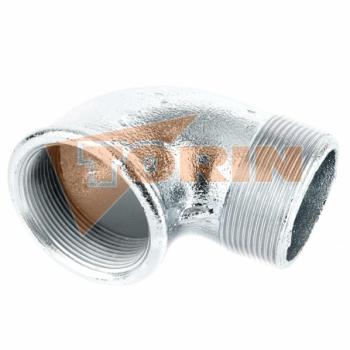 Codo 90° con boquilla roscada RE/RE 2 aluminio