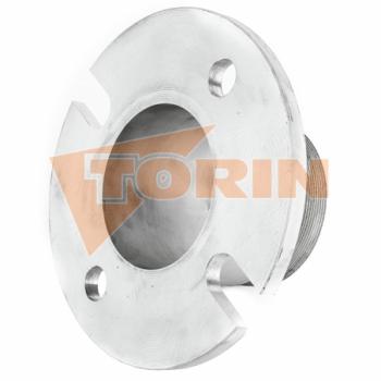 Приварной патрубок с наружной резьбой 4 нержавеющая сталь